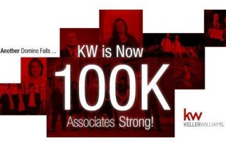 Keller Williams tops 100K associates worldwide.